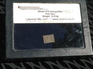Dhofar 019 Part Slice 0.514g Martian Basalt (Shergottite)