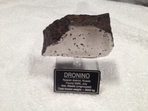 Dronino, Ryazanskaya oblast', Russia, Found July 2000, Classified as an Iron, ataxite (ungrouped) This is the meteorite that got it all started for me.  After watching a few episodes of Meteorite Men in the fall of 2011 I decided to go online (Ebay) and search for meteorites.  I purchased this from a Canadian dealer in December 2011.  Let the story continue....
