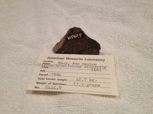 Macy, New Mexico 13.5 grams with Huss number H444.9
