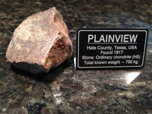 Plainview, Hale County, Texas 80.0grams - Oridnary Chondrite (H5) and you can see the small metal flakes