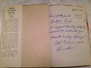 Signed by Captain Devere