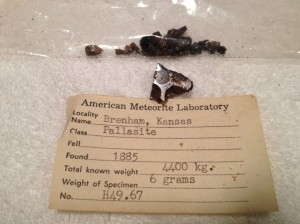 Brenham, Kansas 6 grams with Huss number H49.67