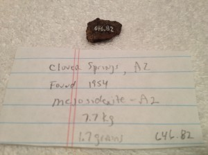 Clover Springs, Arizona 1.7 grams with Nininger number 646.82