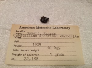 Covert, Kansas 1.0 grams with AML number 22.188