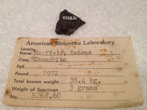 Mayfield, Kansas 3 grams with Huss number H268.60
